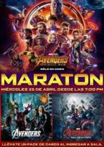 film Avengers Maraton program kin a trailer